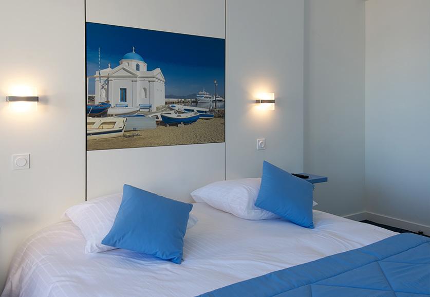 Chambre supérieure vue mer latérale - Mykonos