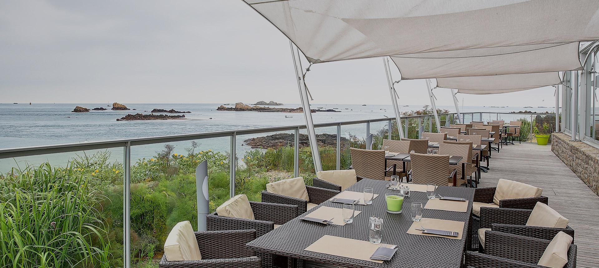 Le restaurant de l'hôtel Terrasses de Bréhat